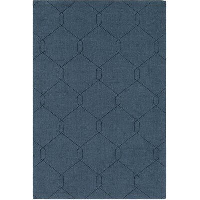 Hinkel Hand-Loomed Teal Area Rug Rug Size: Rectangle 8 x 10