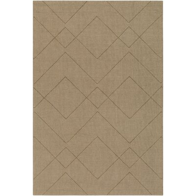 Matteson Hand-Loomed Khaki Area Rug Rug Size: Rectangle 8 x 10