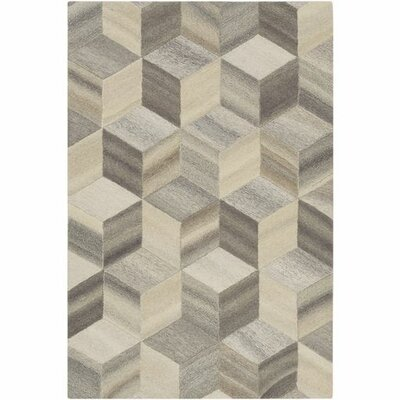 Pucklechurch Hand-Tufted Butter/Khaki Area Rug Rug Size: 5 x 76