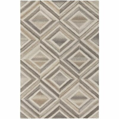 Pucklechurch Hand-Tufted Cream/White Area Rug Rug Size: Rectangle 8 x 10