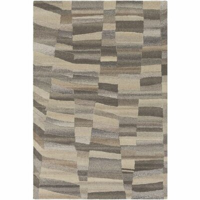 Pucklechurch Hand-Tufted Cream/Medium Gray Area Rug Rug Size: Rectangle 5 x 76