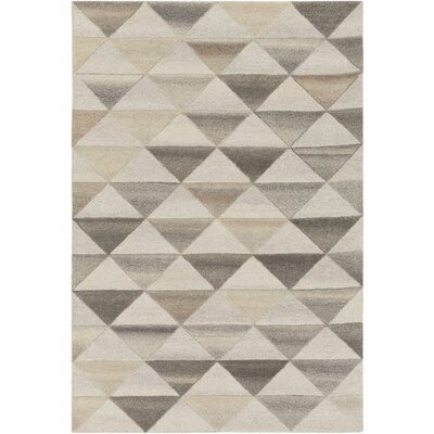 Pucklechurch Hand-Tufted Cream/White Area Rug Rug Size: Rectangle 5 x 76
