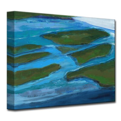 Land Mass Painting Print on Wrapped Canvas Size: 12