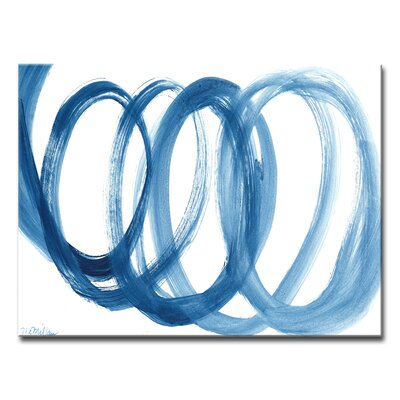 Loopy Blue Painting Print on Wrapped Canvas Size: 12