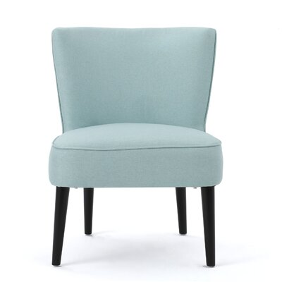 Driftwood Barrel Chair Upholstery: Light Blue