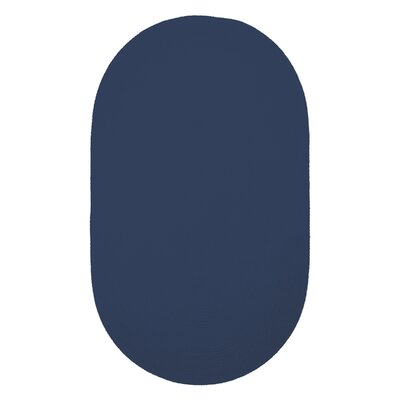 Yonkers Navy Solid Rug Rug Size: Oval 3 x 5