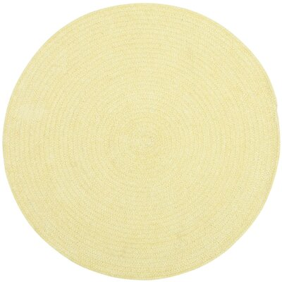 Yonkers Butter Solid Rug Rug Size: Round 3