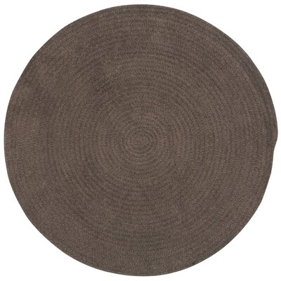 Yonkers Chocolate Solid Rug Rug Size: Round 56