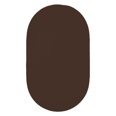 Yonkers Chocolate Solid Rug Rug Size: Oval 4 x 6