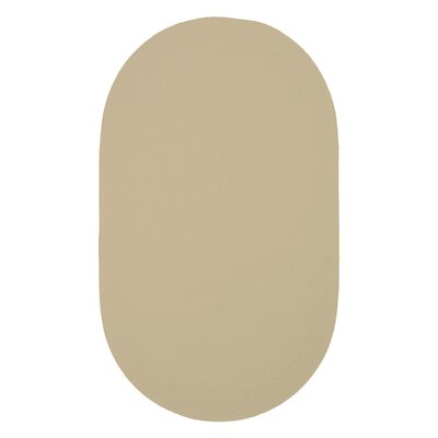 Yonkers Coffee Solid Rug Rug Size: Oval 4 x 6