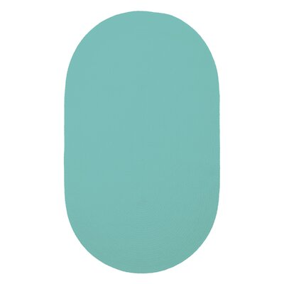 Yonkers Island Blue Solid Rug Rug Size: Oval 2 x 3