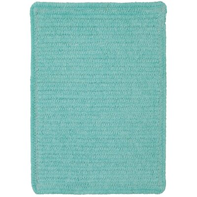 Yonkers Island Blue Solid Rug Rug Size: Square 76