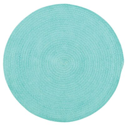 Yonkers Island Blue Solid Rug Rug Size: Round 3