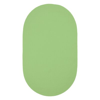 Yonkers Key Lime Solid Rug Rug Size: Oval 2 x 3