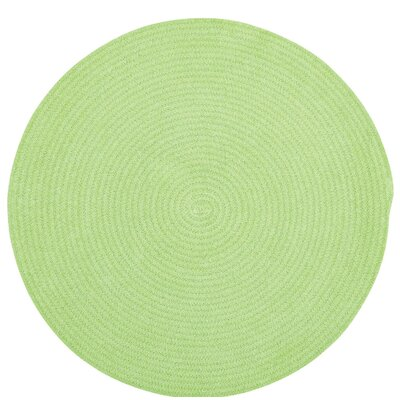 Yonkers Key Lime Solid Rug Rug Size: Round 3