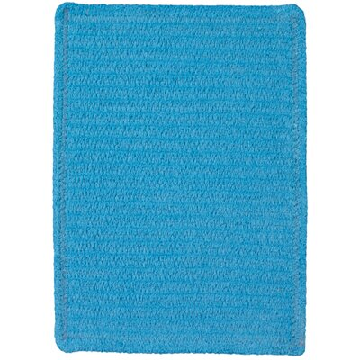 Yonkers Blue Solid Rug Rug Size: Square 3'
