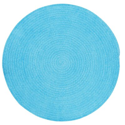 Yonkers Blue Solid Rug Rug Size: Round 86