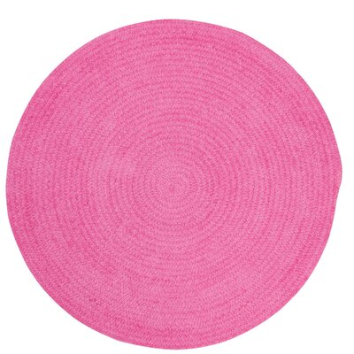 Yonkers Bright Pink Solid Rug Rug Size: Round 3