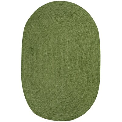 Yonkers Braided Green Area Rug Rug Size: Oval 2' x 3'