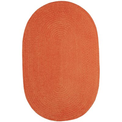 Yonkers Braided Cantaloupe Area Rug Rug Size: Oval 8 x 11