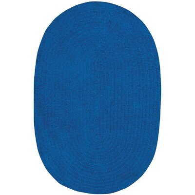 Yonkers Braided Royal Blue Area Rug Rug Size: Oval 8 x 11