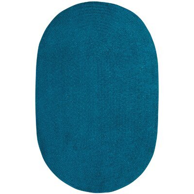 Yonkers Braided Azure Area Rug Rug Size: Oval 9 x 12