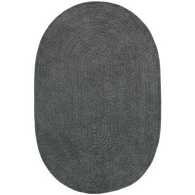 Yonkers Braided Cinder Area Rug Rug Size: Oval 9 x 12