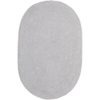 Yonkers Braided Moonstone Area Rug Rug Size: Oval 3 x 5