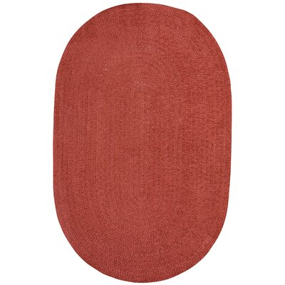 Yonkers Braided Red Area Rug Rug Size: Oval 3 x 5