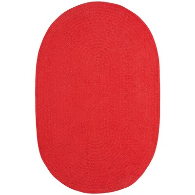 Yonkers Braided Red Area Rug Rug Size: Oval 8 x 11