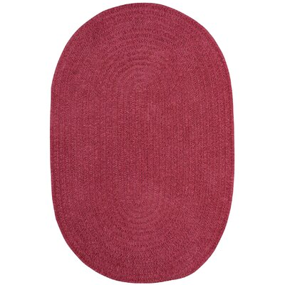 Yonkers Braided Rose Area Rug Rug Size: Oval 7 x 9