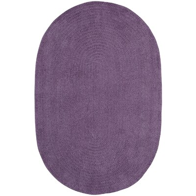 Yonkers Braided Wisteria and Beige Area Rug Rug Size: Oval 4 x 6