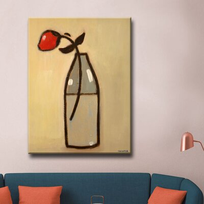 Minimalist Rose I Framed Print on Canvas