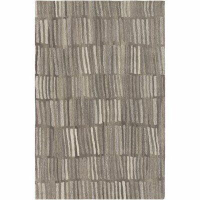 Pucklechurch Hand-Tufted Medium Gray/Light Gray Area Rug Rug Size: Rectangle 8 x 10