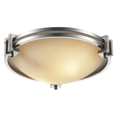 Bohanon 2-Light Flush Mount Size: 4 H x 12.75 W x 12.75 D