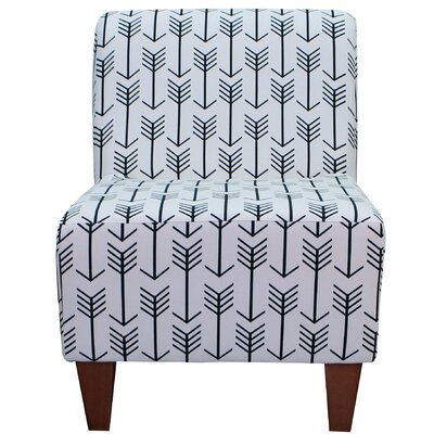 Madiun Slipper Chair Upholstery: White / Black
