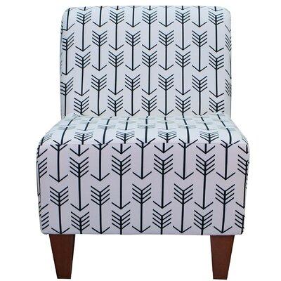 Madiun Slipper Chair Upholstery: White / Black