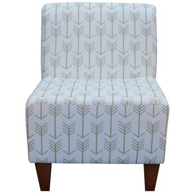 Madiun Slipper Chair Upholstery: White / Gold