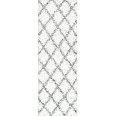 Colona White/Gray Area Rug Rug Size: Rectangle 3 2 x 5