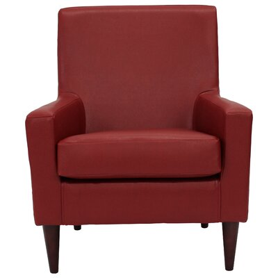 Bohn Arm Chair Upholstery: Red