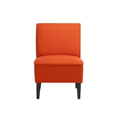 Benitez Slipper Chair Upholstery: Orange