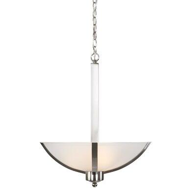 Babin 3-Light Bowl Pendant Finish: Satin Steel, Size: 21 H x 16 W x 16 D