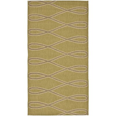 Jefferson Place Olive/Brown Outdoor Area Rug Rug Size: Runner 27 x 5