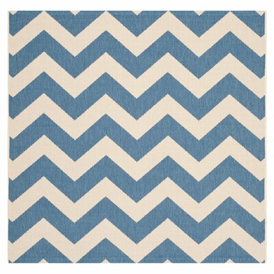 Jefferson Place Blue & Beige Area Rug Rug Size: Square 710