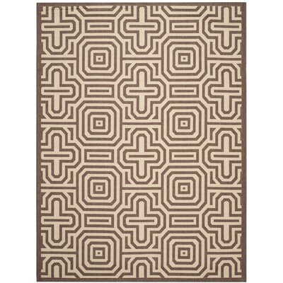 Jefferson Place Chocolate/Natural Outdoor Rug Rug Size: 53 x 77