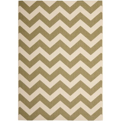 Jefferson Place Green/Beige Indoor/Outdoor Rug Rug Size: 67 x 96