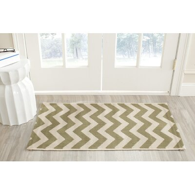 Jefferson Place Green/Beige Indoor/Outdoor Rug Rug Size: Rectangle 4 x 57