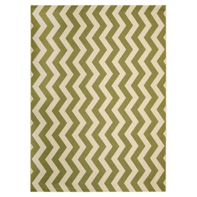 Jefferson Place Green/Beige Indoor/Outdoor Rug Rug Size: Rectangle 67 x 96