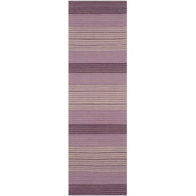 Jefferson Hand Woven Cotton Purple Area Rug Rug Size: Runner 23 x 8