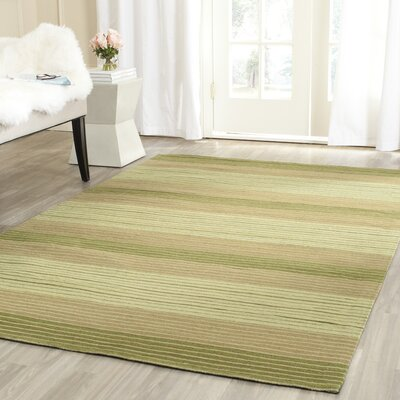 Jefferson Hand Woven Cotton Green Area Rug Rug Size: Rectangle 6 x 9